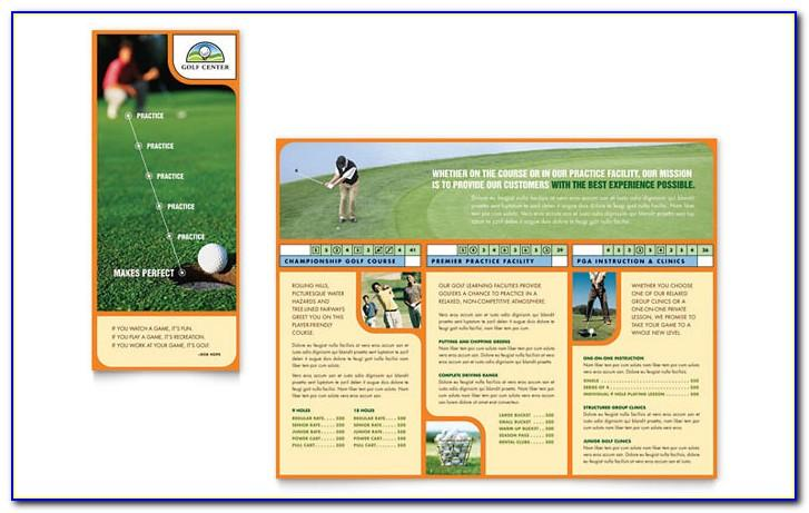 Golf Outing Brochure Template