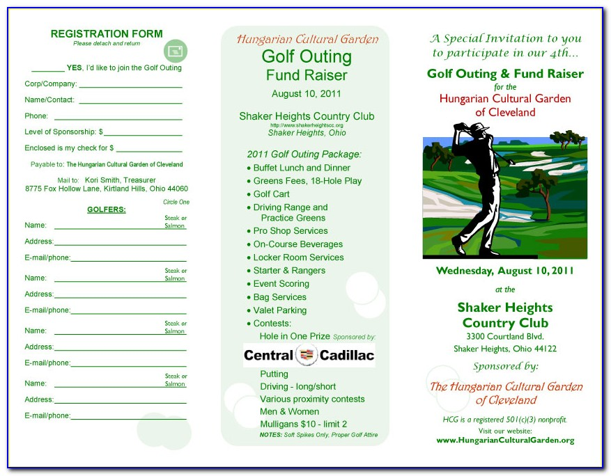Golf Outing Flyer Examples