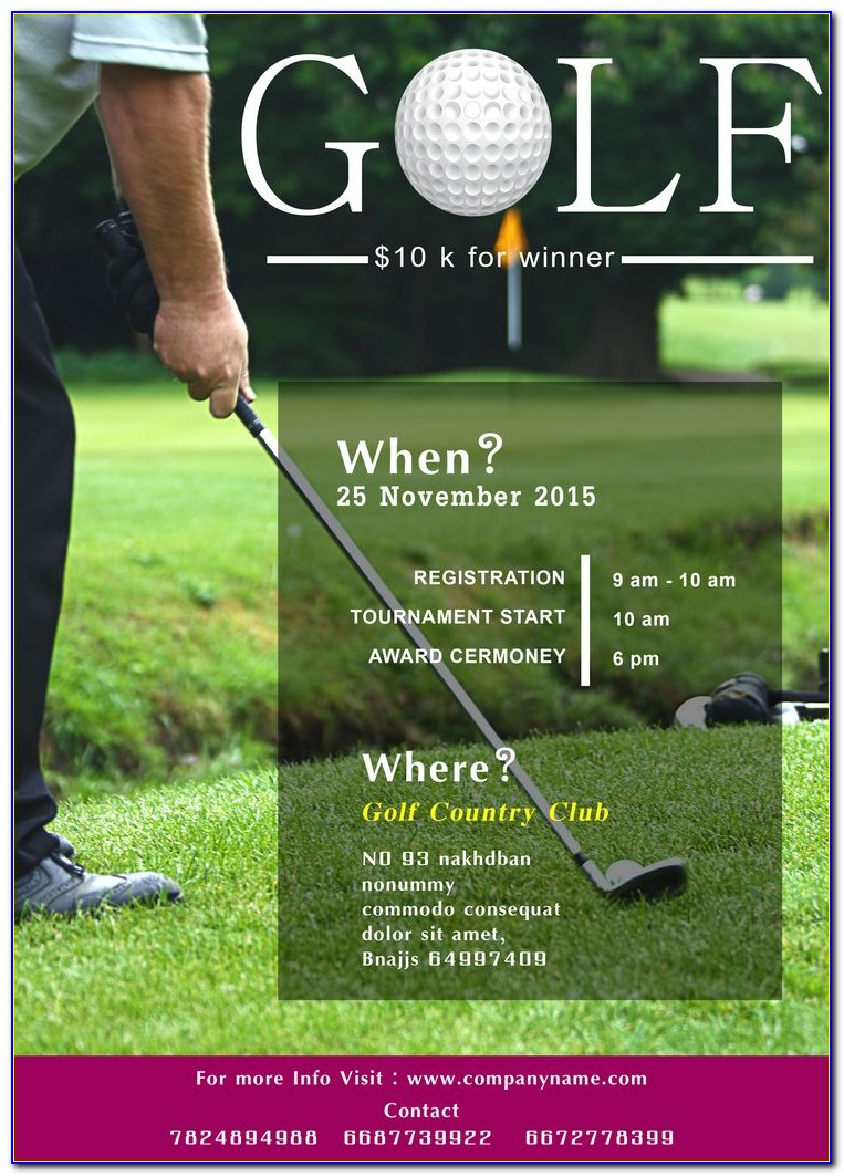 Golf Outing Flyer Ideas