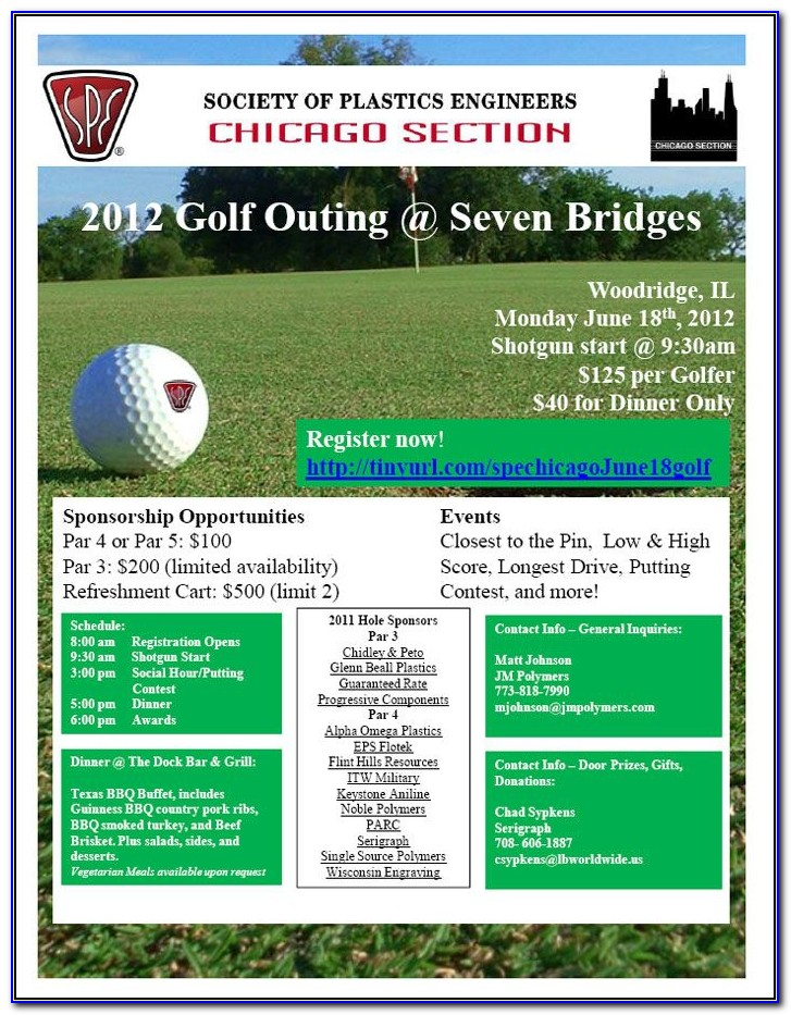 Golf Outing Flyer Microsoft Word