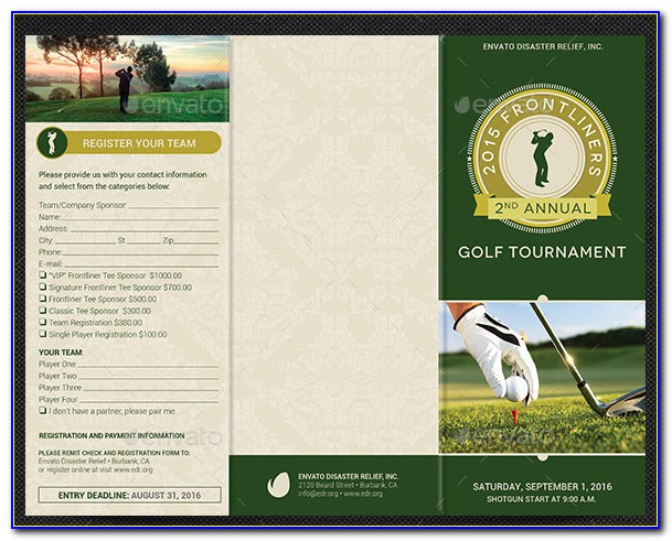 Golf Outing Flyer Template Word