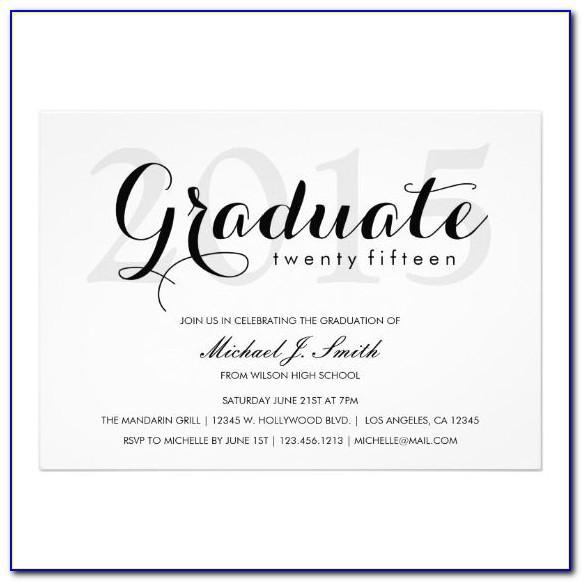 Good Fonts For Graduation Announcements