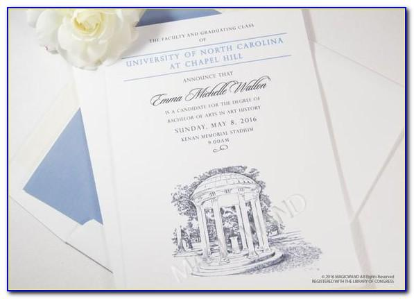 Graduation Announcements Unc Chapel Hill