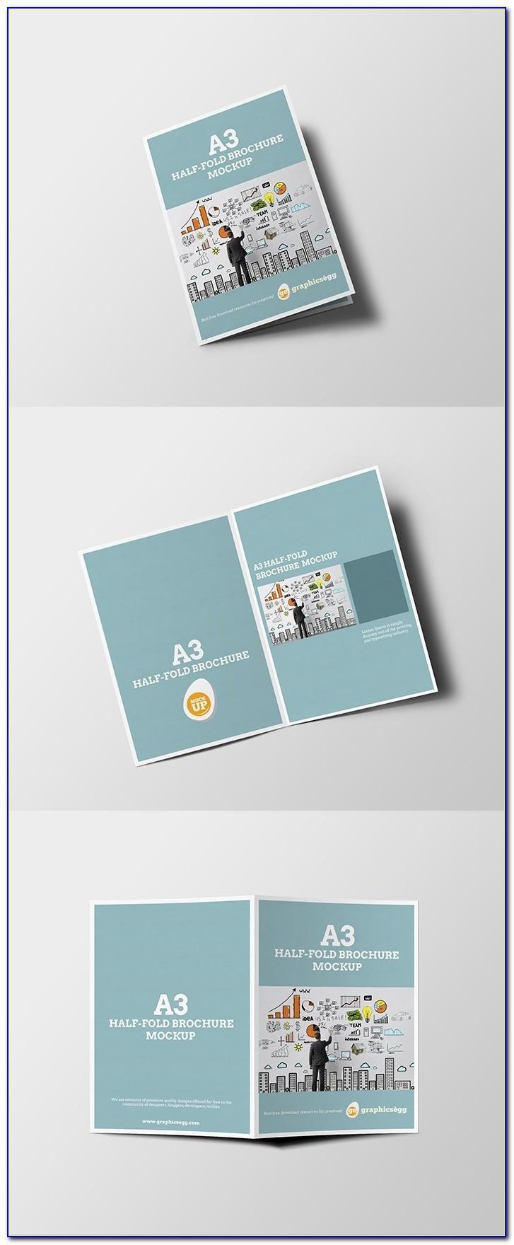 Half Fold Brochure Mockup Free Download