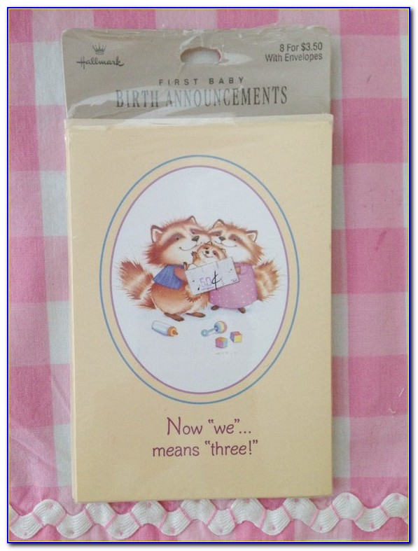 Hallmark Birth Announcement Cards