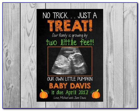Halloween Pregnancy Announcement Cards