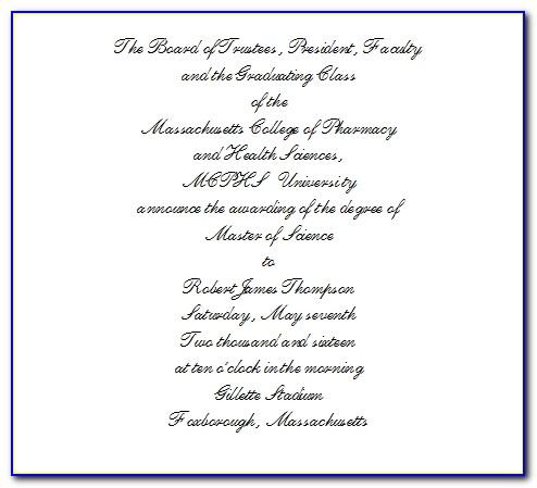 Harvard Graduation Invitation