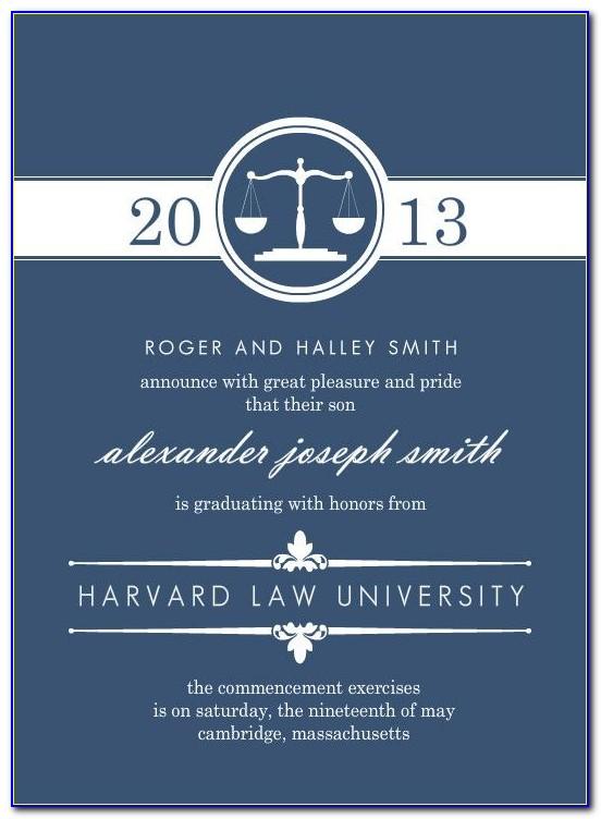 Harvard Law School Graduation Announcements
