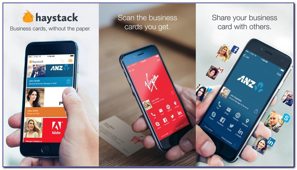 Haystack Business Card App