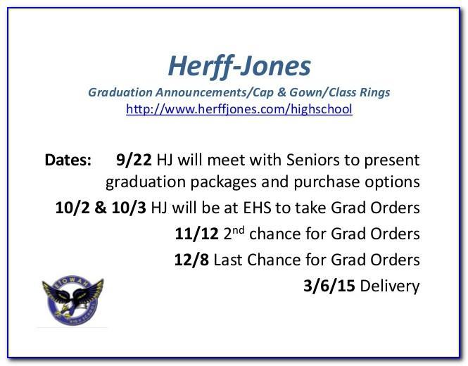 Herff Jones Graduation Announcements Assembly