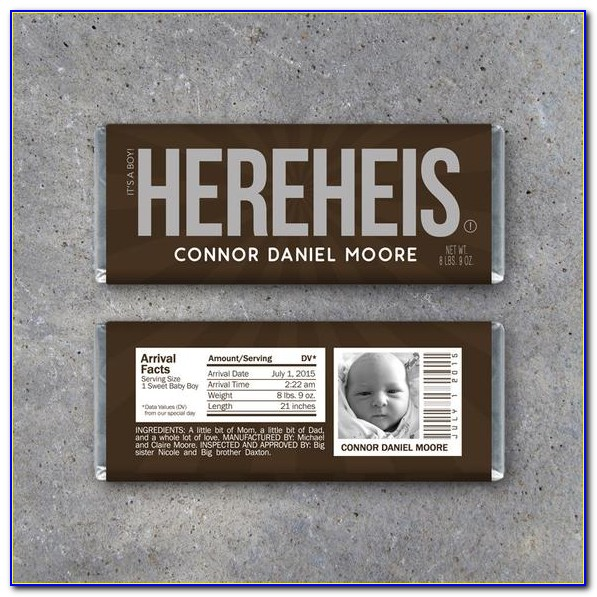 Hershey's Baby Announcement Candy