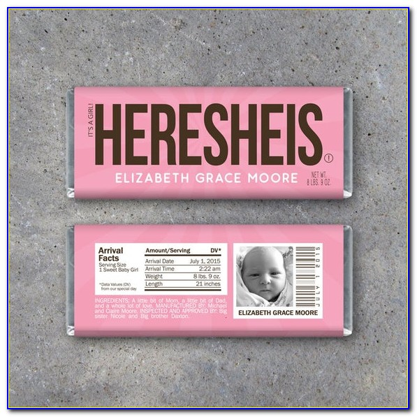 Hershey's Baby Announcement Template