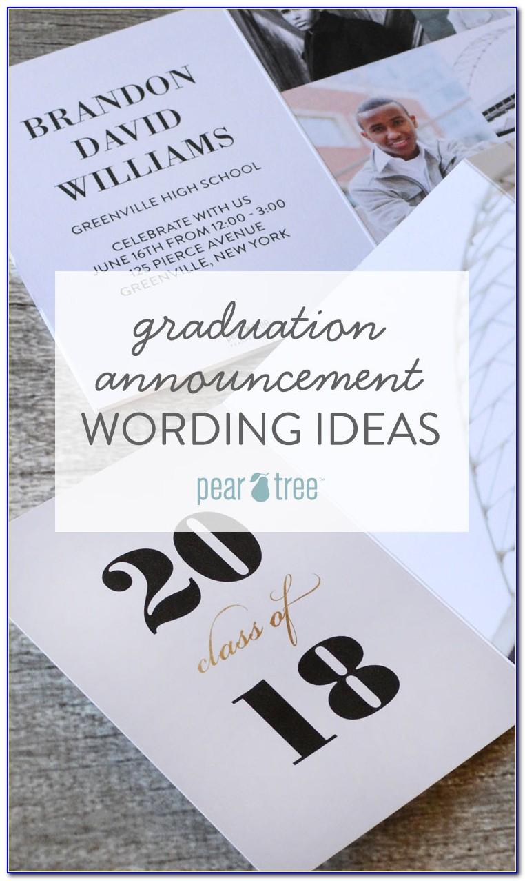 High School Graduation Announcement Wording Etiquette
