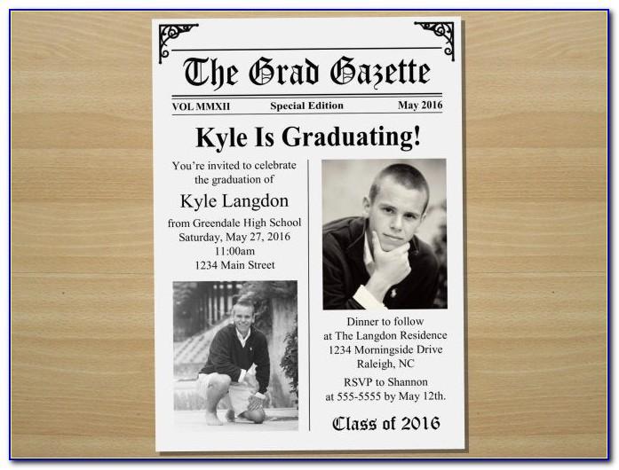 High School Graduation Newspaper Announcement Wording