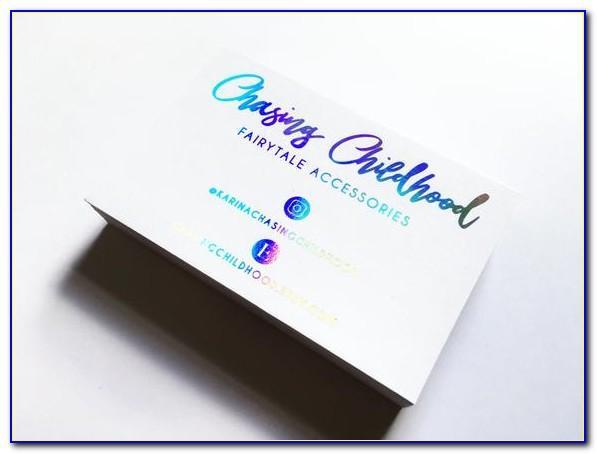 Holographic Business Cards Vistaprint