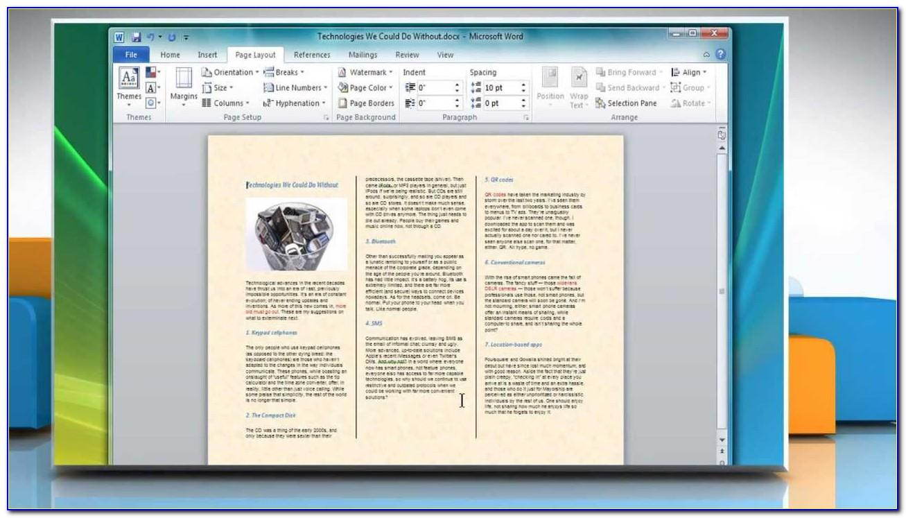 How To Make A Tri Fold Brochure In Word 2007