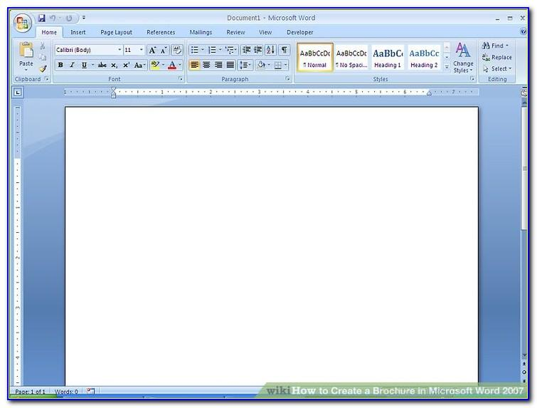 How To Make A Trifold Brochure In Word 2003