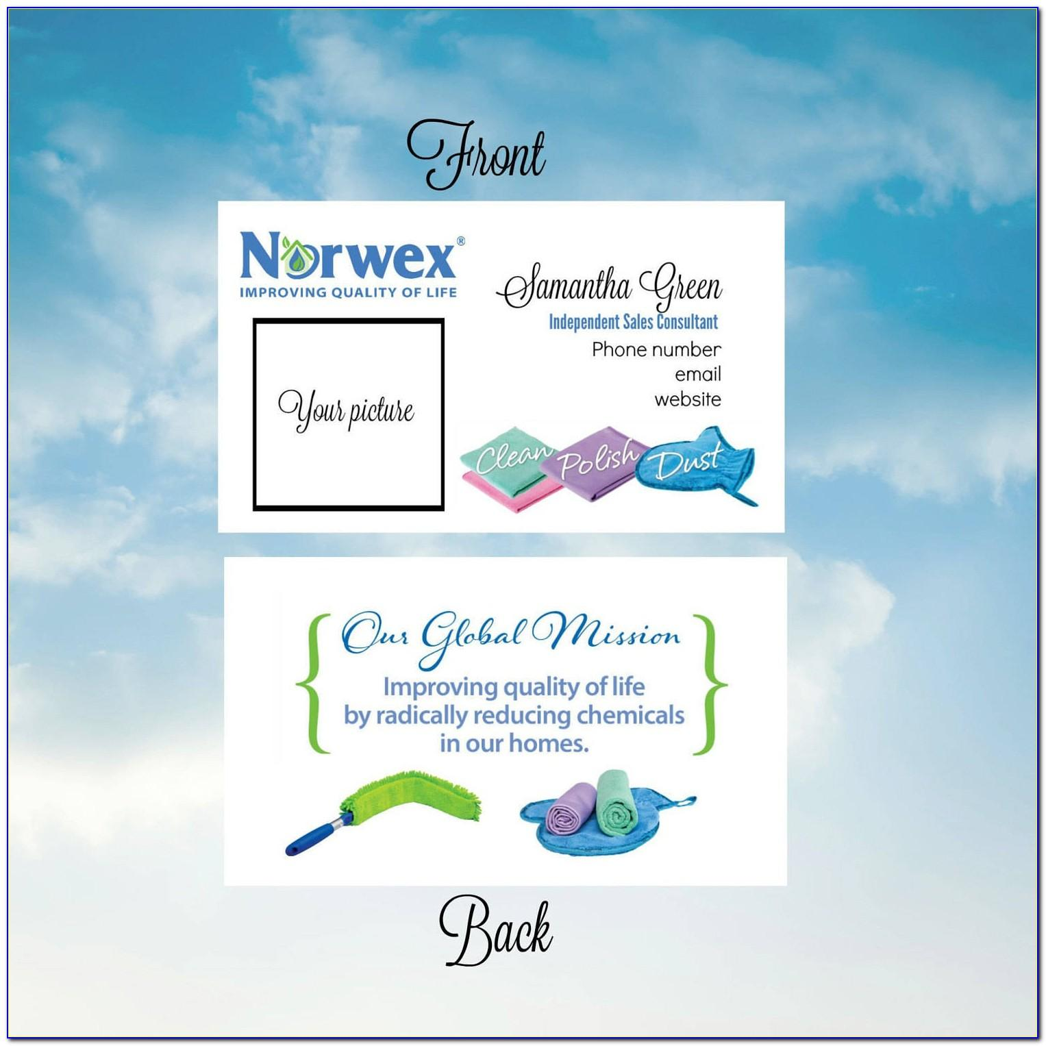 How To Order Norwex Business Cards