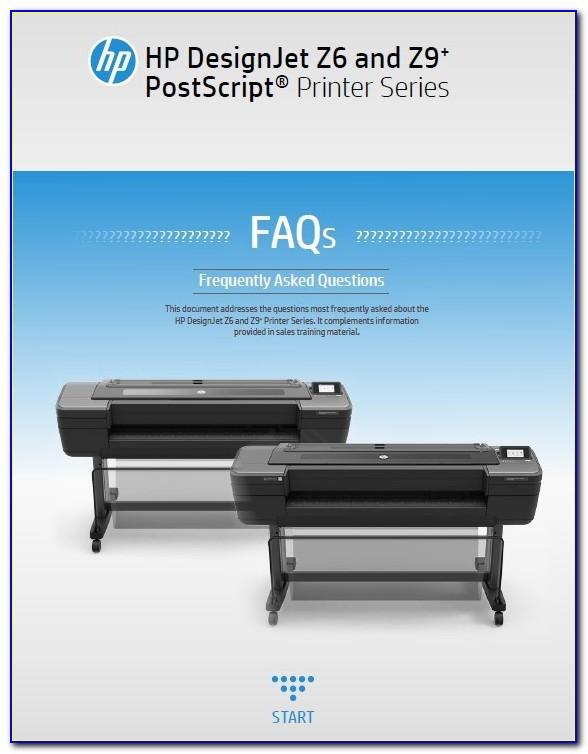 Hp Designjet Z6 44 In Postscript Printer Brochure