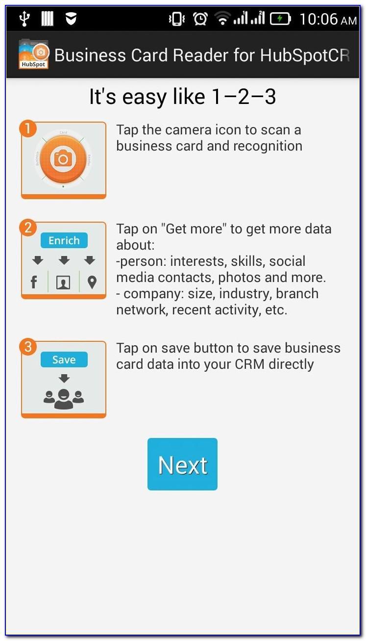 Hubspot Business Card Scanning