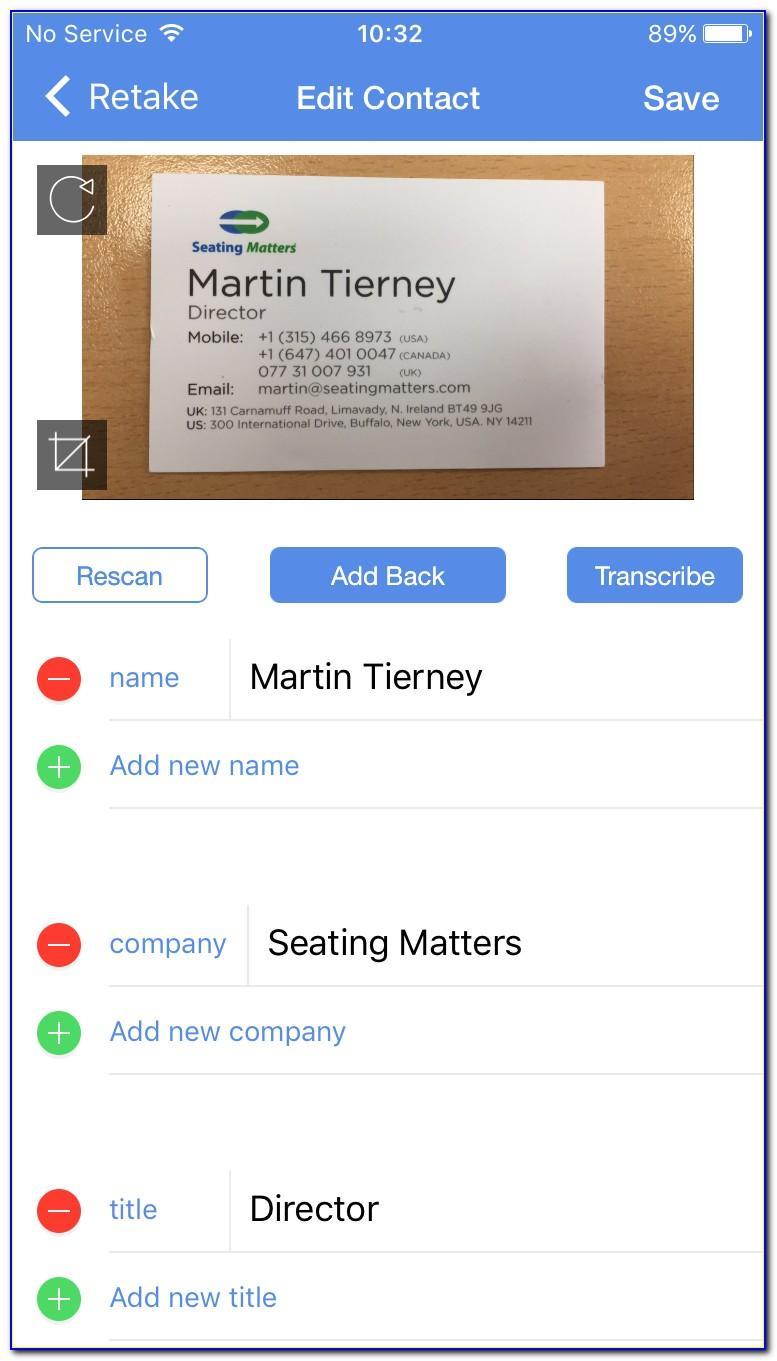 Hubspot Mobile Business Card Scanner