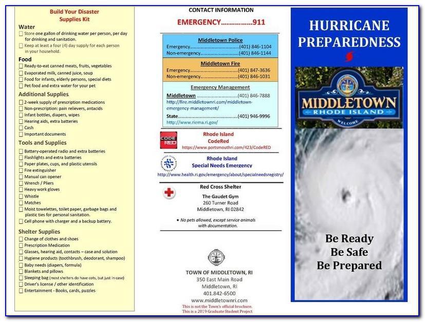Hurricane Preparedness Brochure Florida