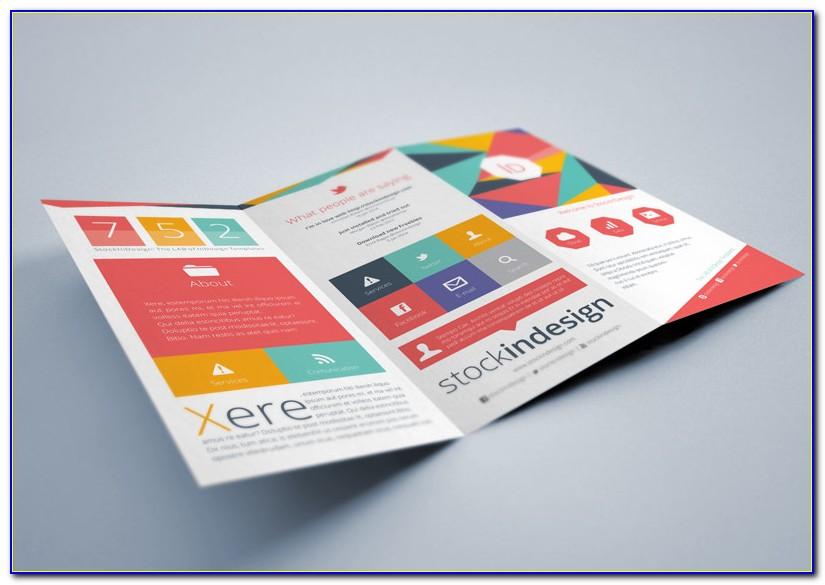 Indesign Brochure Templates Half Fold