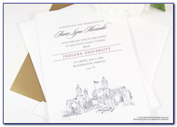 Indiana State University Graduation Invitations