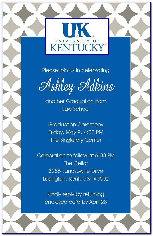 Kansas State University Graduation Invitations