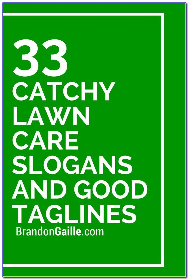 Lawn Care Business Card Slogans