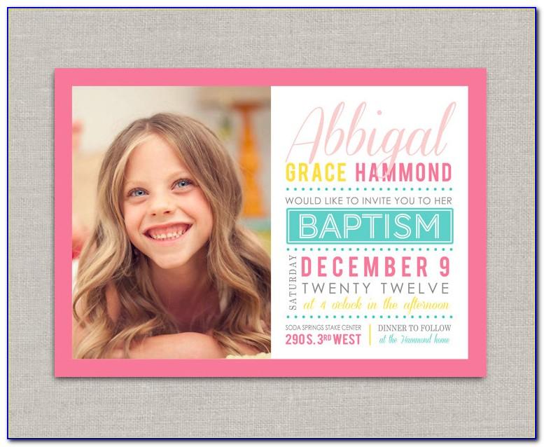 Lds Baptism Announcements