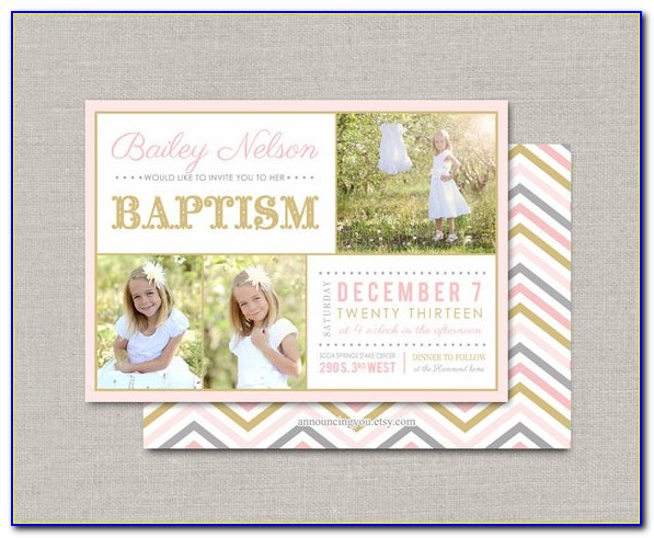 Lds Baptism Invitation Wording