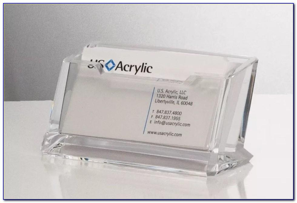 Lucite Business Card Holder