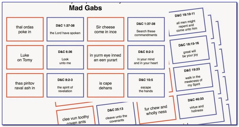 Mad Gab Pregnancy Reveal Cards