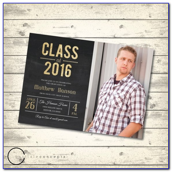 Male Graduation Invitation Templates