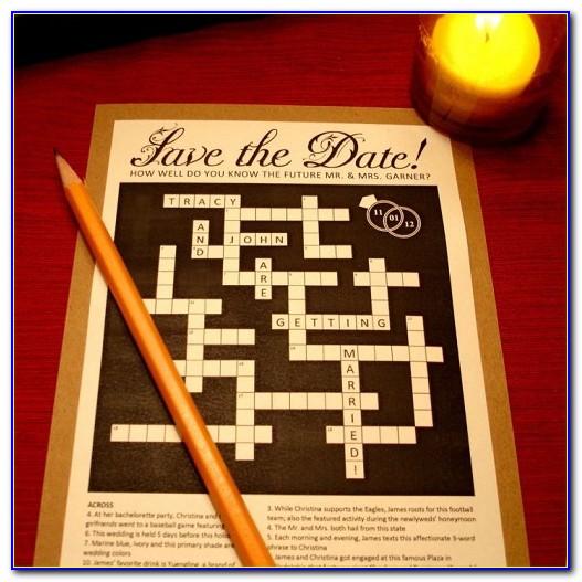 Marriage Announcement Word Crossword Clue