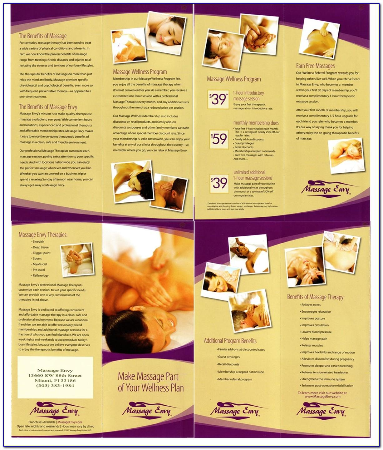 Massage Envy Membership Brochure
