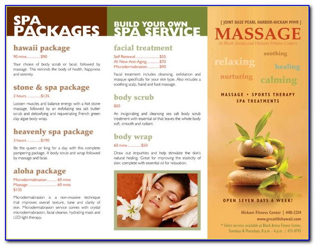 Massage Therapy Brochures Templates Free