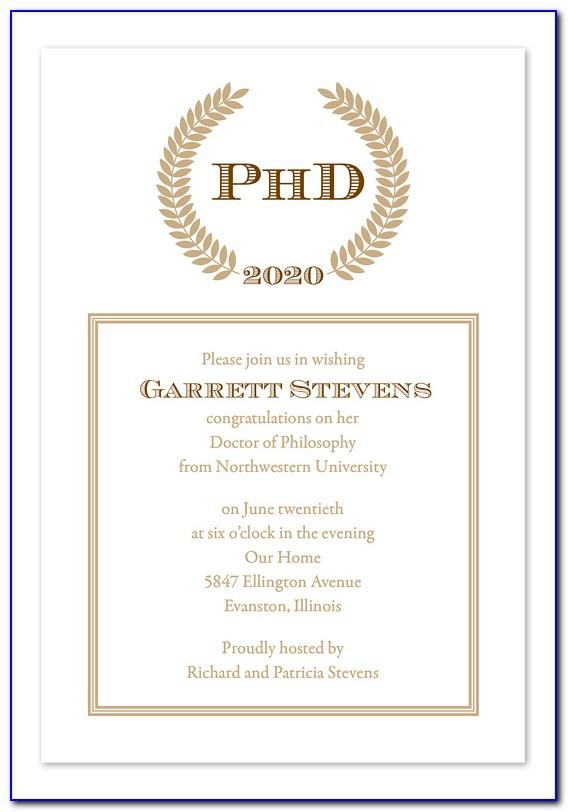 Master's Degree Graduation Announcement Wording