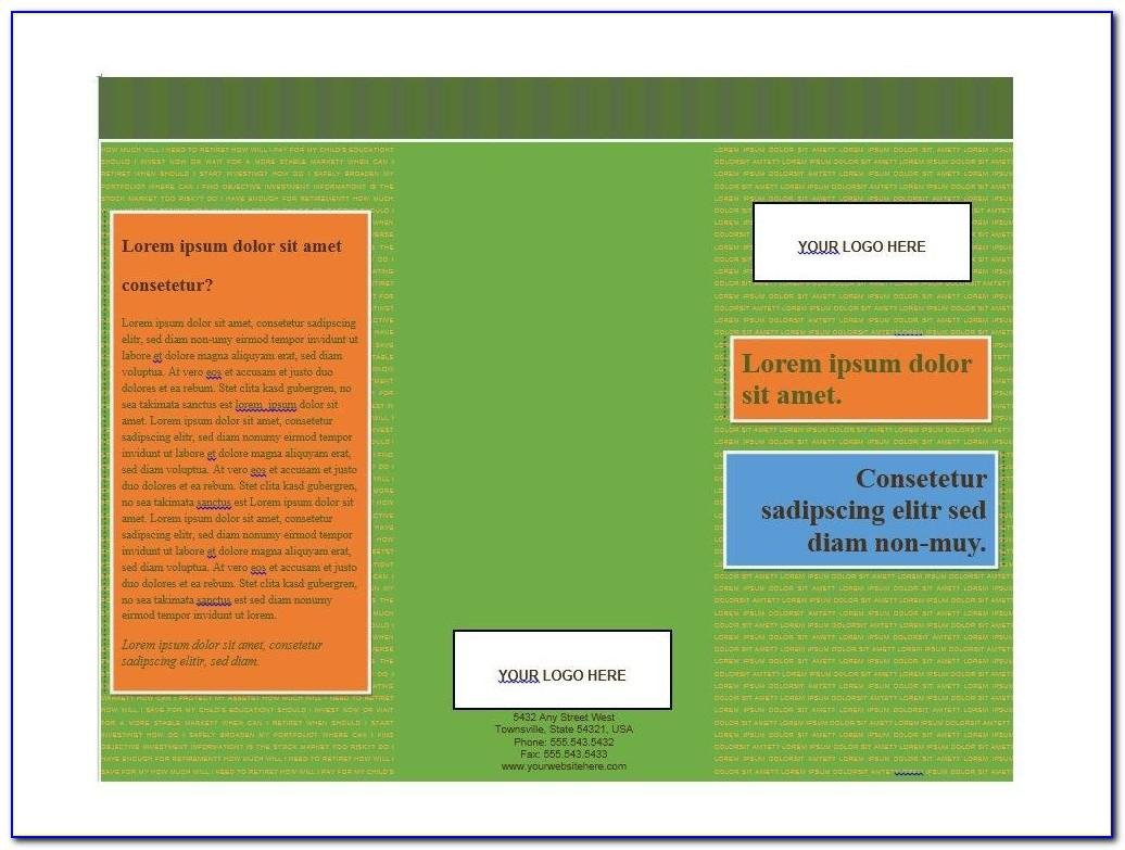 Microsoft Word 2007 Tri Fold Brochure Template
