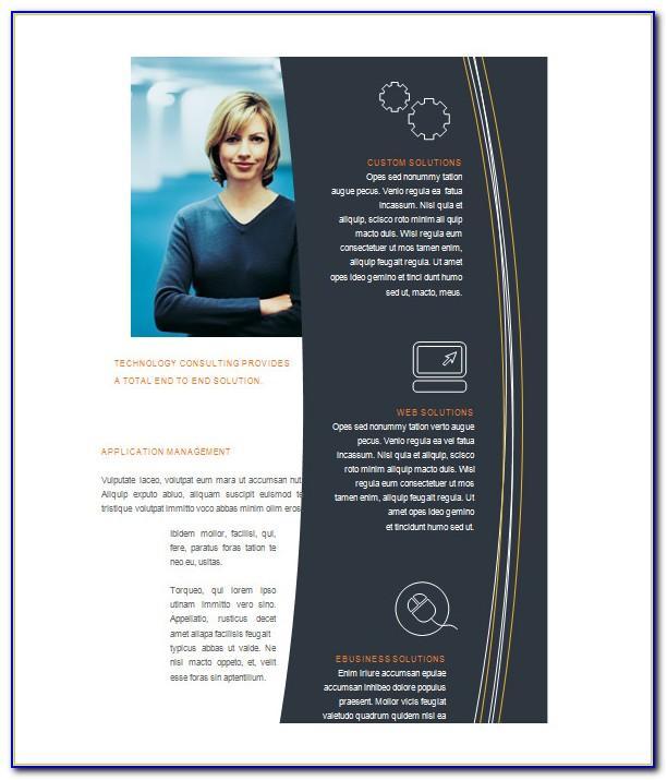 Microsoft Word Blank Tri Fold Brochure Template
