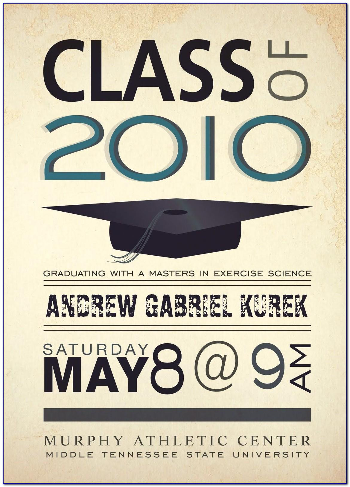 Middle Tennessee State University Graduation Announcements