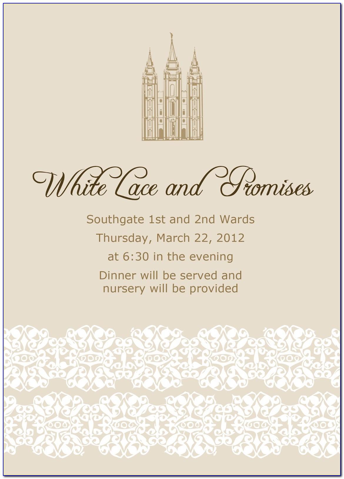 Mormon Wedding Announcement Wording