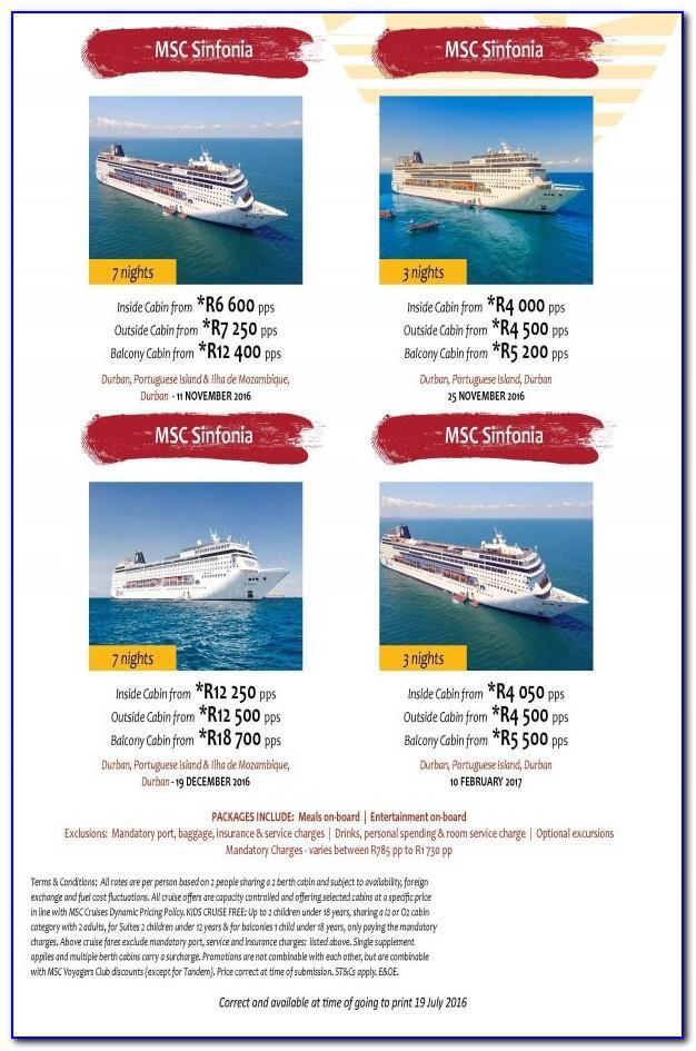 Msc Cruise Brochure Order