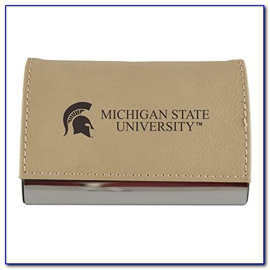 Msu Business Card Holder