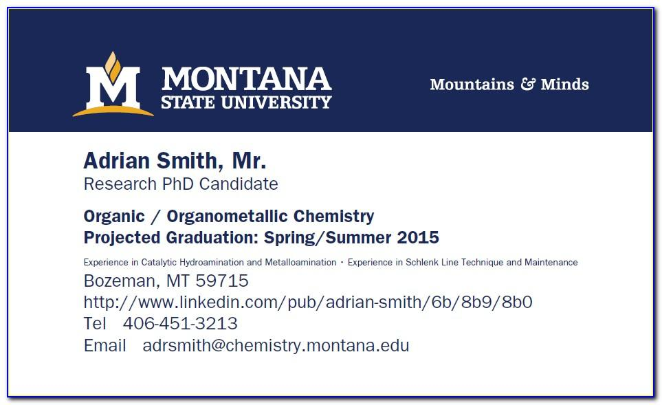 Msu Extension Business Cards