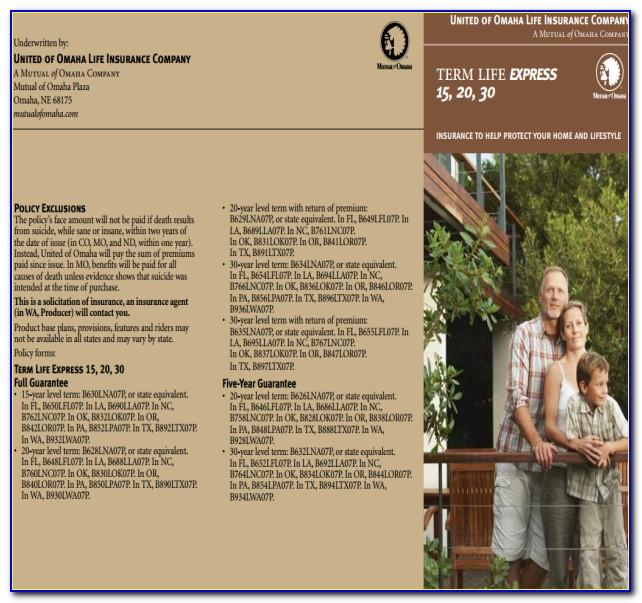 Mutual Of Omaha Living Promise Consumer Brochure