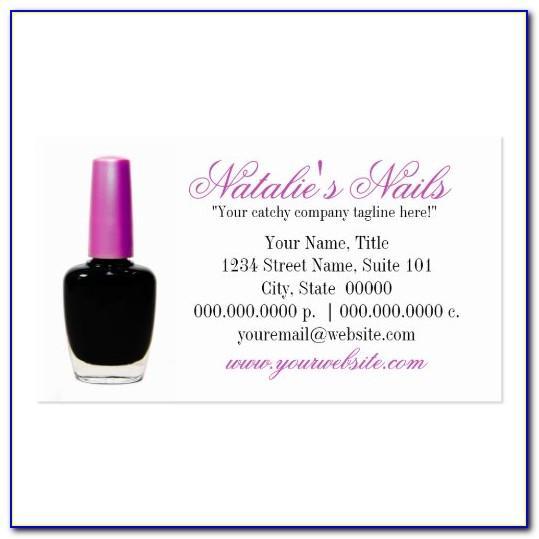 Nail Polish Shaped Business Cards