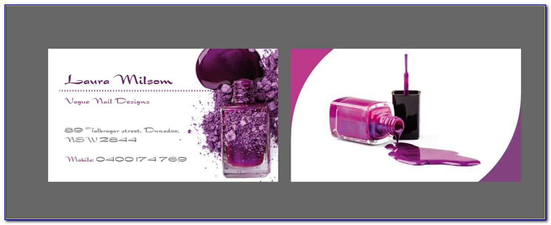 Nail Tech Business Card Designs
