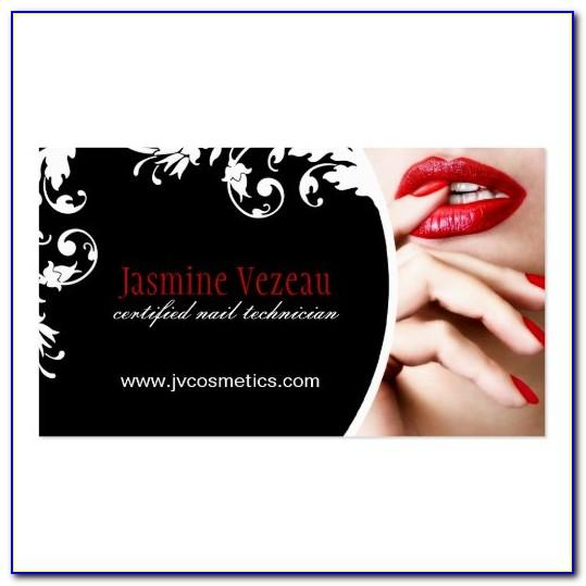 Nail Tech Business Card Free Template